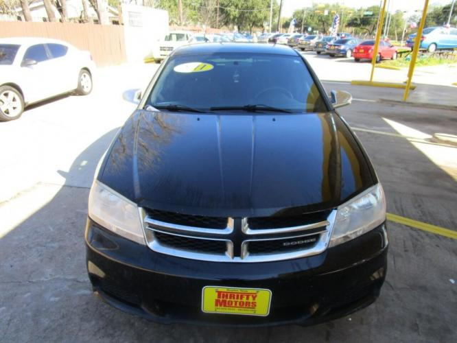 2011 Black Dodge Avenger (1B3BD4FB6BN) with an 2.4L I4 2.4L I4 engine, Automatic 4-Speed transmission, located at 4509 Highway 6 North, Houston, TX, 77084, (281) 859-4646, 29.848997, -95.645760 - Photo #1