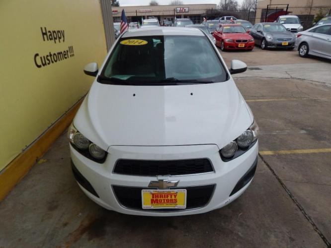 2014 White Chevrolet Sonic (1G1JA6SH7E4) with an 1.8L I4 1.8L I4 engine, Automatic 6-Speed transmission, located at 4509 Highway 6 North, Houston, TX, 77084, (281) 859-4646, 29.848997, -95.645760 - Photo #11