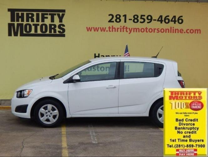 2014 White Chevrolet Sonic (1G1JA6SH7E4) with an 1.8L I4 1.8L I4 engine, Automatic 6-Speed transmission, located at 4509 Highway 6 North, Houston, TX, 77084, (281) 859-4646, 29.848997, -95.645760 - Photo #2
