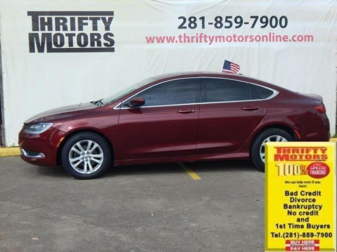 2015 Red Chrysler 200 (1C3CCCAB1FN) with an 2.4L I4 2.4L I4 engine, Automatic 9-Speed transmission, located at 4509 Highway 6 North, Houston, TX, 77084, (281) 859-4646, 29.848997, -95.645760 - Photo #0