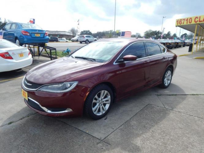 2015 Red Chrysler 200 (1C3CCCAB1FN) with an 2.4L I4 2.4L I4 engine, Automatic 9-Speed transmission, located at 4509 Highway 6 North, Houston, TX, 77084, (281) 859-4646, 29.848997, -95.645760 - Photo #3