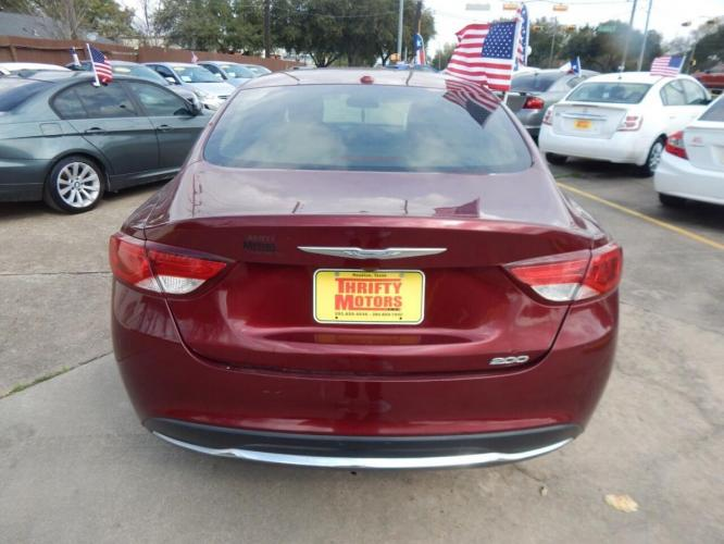 2015 Red Chrysler 200 (1C3CCCAB1FN) with an 2.4L I4 2.4L I4 engine, Automatic 9-Speed transmission, located at 4509 Highway 6 North, Houston, TX, 77084, (281) 859-4646, 29.848997, -95.645760 - Photo #4