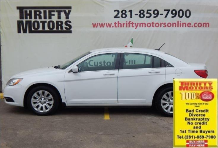 2014 White Chrysler 200 (1C3CCBAB6EN) with an 2.4L I4 2.4L I4 engine, Automatic 4-Speed transmission, located at 4509 Highway 6 North, Houston, TX, 77084, (281) 859-4646, 29.848997, -95.645760 - Photo #0