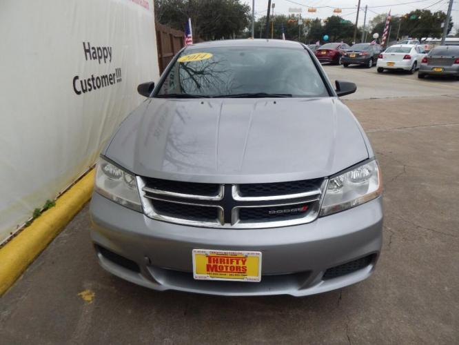 2014 Gray Dodge Avenger (1C3CDZAB1EN) with an 2.4L I4 2.4L I4 engine, Automatic 4-Speed transmission, located at 4509 Highway 6 North, Houston, TX, 77084, (281) 859-4646, 29.848997, -95.645760 - Photo #1