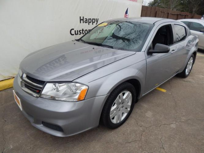 2014 Gray Dodge Avenger (1C3CDZAB1EN) with an 2.4L I4 2.4L I4 engine, Automatic 4-Speed transmission, located at 4509 Highway 6 North, Houston, TX, 77084, (281) 859-4646, 29.848997, -95.645760 - Photo #2