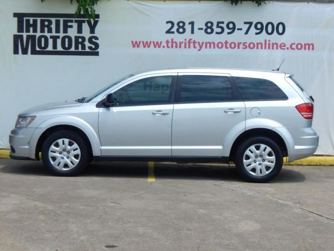2014 Silver Dodge Journey (3C4PDCAB7ET) with an 2.4L I4 2.4L I4 engine, Automatic 4-Speed transmission, located at 4509 Highway 6 North, Houston, TX, 77084, (281) 859-4646, 29.848997, -95.645760 - Photo #0