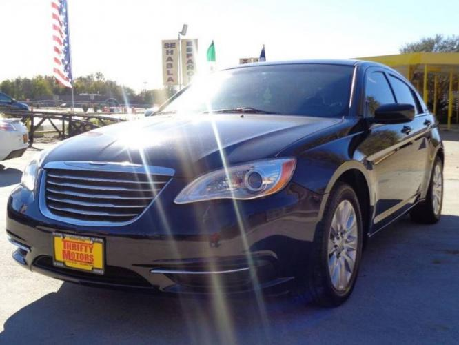 2014 Blue Chrysler 200 (1C3CCBAB6EN) with an 2.4L I4 2.4L I4 engine, Automatic 6-Speed transmission, located at 4509 Highway 6 North, Houston, TX, 77084, (281) 859-4646, 29.848997, -95.645760 - Photo #1