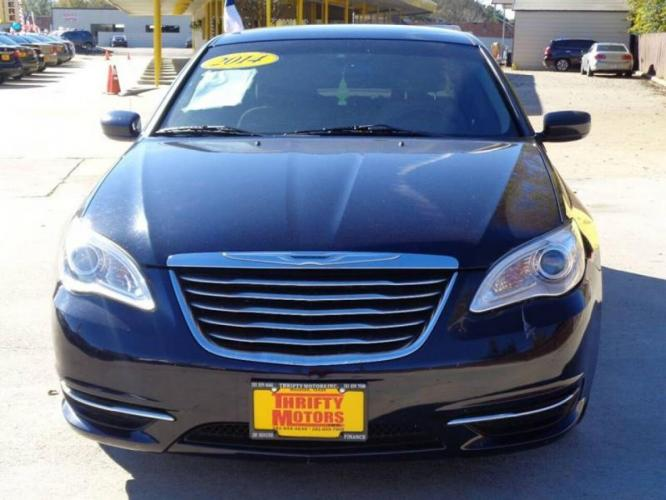 2014 Blue Chrysler 200 (1C3CCBAB6EN) with an 2.4L I4 2.4L I4 engine, Automatic 6-Speed transmission, located at 4509 Highway 6 North, Houston, TX, 77084, (281) 859-4646, 29.848997, -95.645760 - Photo #2