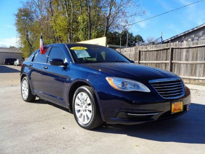 2014 Blue Chrysler 200 (1C3CCBAB6EN) with an 2.4L I4 2.4L I4 engine, Automatic 6-Speed transmission, located at 4509 Highway 6 North, Houston, TX, 77084, (281) 859-4646, 29.848997, -95.645760 - Photo #3