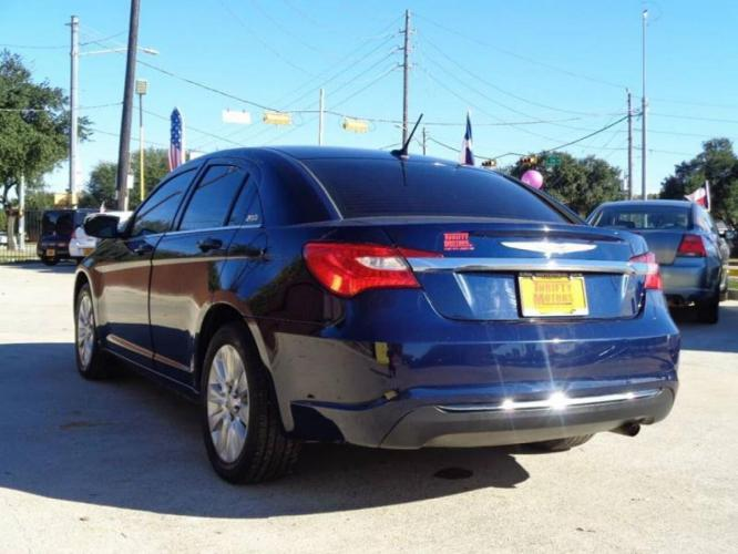 2014 Blue Chrysler 200 (1C3CCBAB6EN) with an 2.4L I4 2.4L I4 engine, Automatic 6-Speed transmission, located at 4509 Highway 6 North, Houston, TX, 77084, (281) 859-4646, 29.848997, -95.645760 - Photo #6