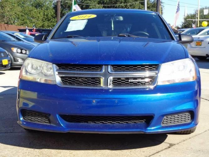 2014 Blue Dodge Avenger (1C3CDZAB8EN) with an 2.4L I4 2.4L I4 engine, Automatic 6-Speed transmission, located at 4509 Highway 6 North, Houston, TX, 77084, (281) 859-4646, 29.848997, -95.645760 - Photo #2