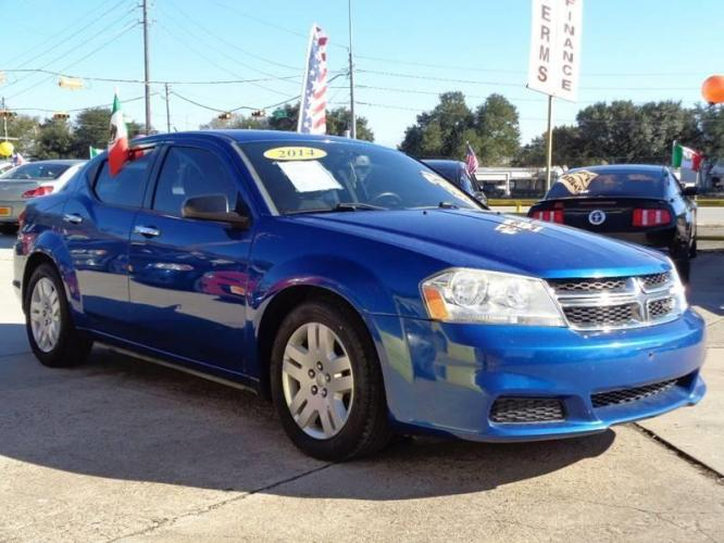 2014 Blue Dodge Avenger (1C3CDZAB8EN) with an 2.4L I4 2.4L I4 engine, Automatic 6-Speed transmission, located at 4509 Highway 6 North, Houston, TX, 77084, (281) 859-4646, 29.848997, -95.645760 - Photo #3