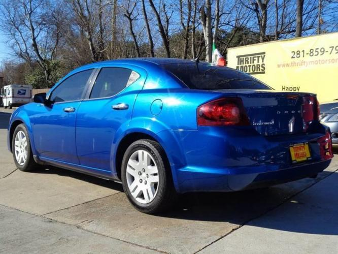 2014 Blue Dodge Avenger (1C3CDZAB8EN) with an 2.4L I4 2.4L I4 engine, Automatic 6-Speed transmission, located at 4509 Highway 6 North, Houston, TX, 77084, (281) 859-4646, 29.848997, -95.645760 - Photo #6