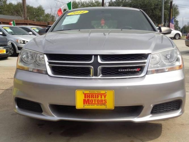 2014 Pewter Dodge Avenger (1C3CDZAB9EN) with an 2.4L I4 2.4L I4 engine, Automatic 4-Speed transmission, located at 4509 Highway 6 North, Houston, TX, 77084, (281) 859-4646, 29.848997, -95.645760 - Photo #1