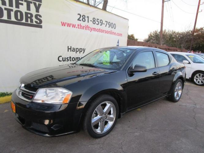 2014 Black Dodge Avenger (1C3CDZAB7EN) with an 2.4L I4 2.4L I4 engine, Automatic 4-Speed transmission, located at 4509 Highway 6 North, Houston, TX, 77084, (281) 859-4646, 29.848997, -95.645760 - Photo #2