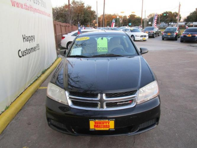 2014 Black Dodge Avenger (1C3CDZAB7EN) with an 2.4L I4 2.4L I4 engine, Automatic 4-Speed transmission, located at 4509 Highway 6 North, Houston, TX, 77084, (281) 859-4646, 29.848997, -95.645760 - Photo #3